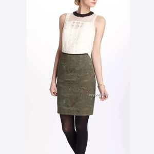Meadow rue Anthropologie quilted threads skirt